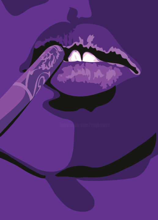"""Digital Arts titled """"Mad about you (90x6…"""" by Mayki, Original Art, Digital Painting"""