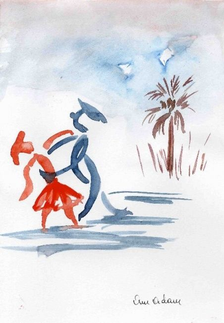 rève exotique - Drawing, ©2007 by Anne Marie Mazzocchi -