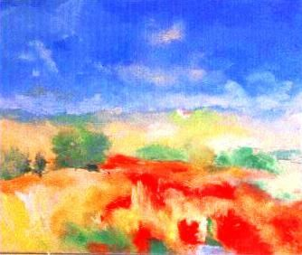 10-(nature)  - Painting,  19.7x257.5 in, ©2006 by Anne Marie Mazzocchi -