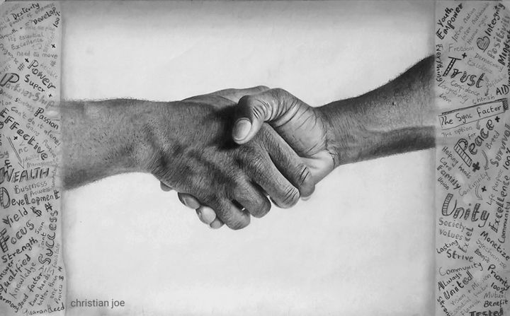 """Drawing titled """"The Sync Factor"""" by Christian Mba, Original Art, Charcoal"""