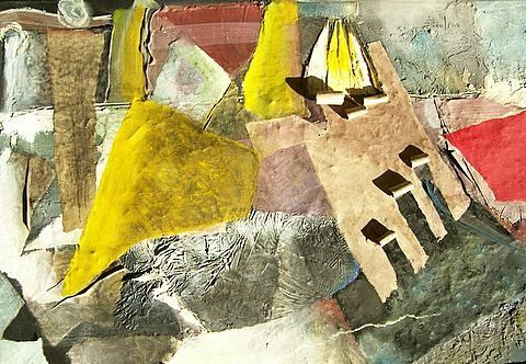 collage (détail n°3-1) - Painting ©2009 by Christine Fric -