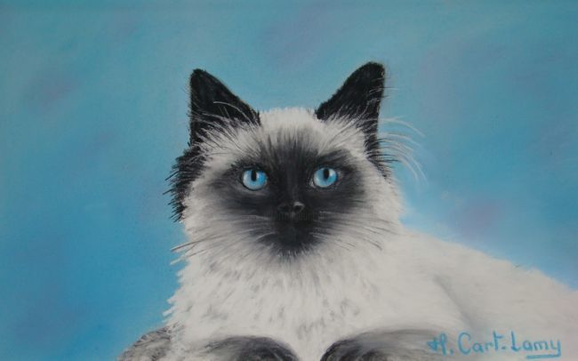 Muffin - Painting,  18x24 cm ©2011 by Martine Cart-Lamy -