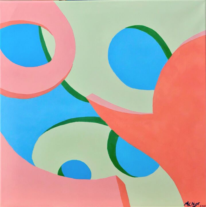 """Painting titled """"ABSTRACT SHERBET"""" by Mitch Nye, Original Art, Acrylic"""