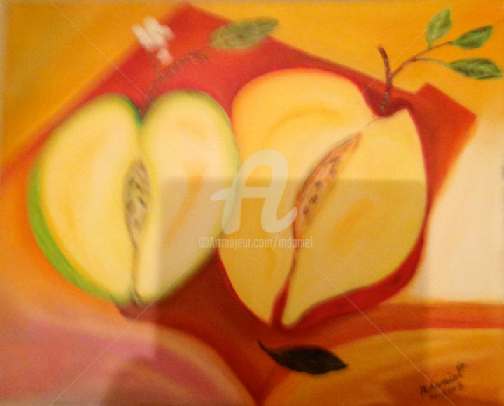 Pomme-jaune-0167.jpg - Painting,  15.8x19.7 in, ©2015 by Mdaniel -