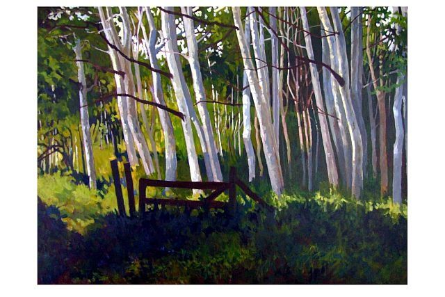 """Painting titled """"Abandoned Pasture"""" by Mike Dendy, Original Art,"""
