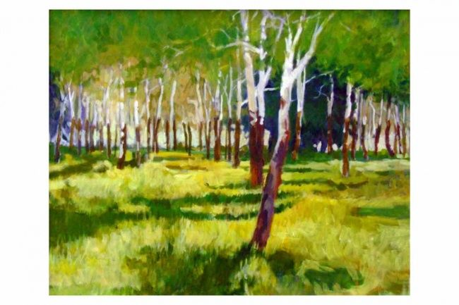 """Painting titled """"A Controlled Burn"""" by Mike Dendy, Original Art,"""
