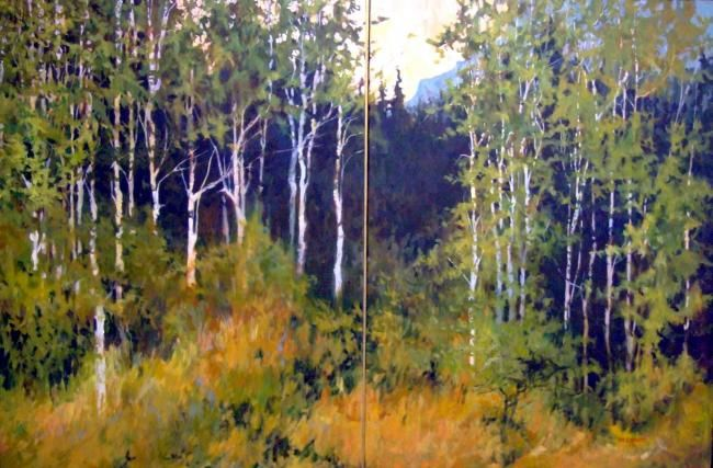 """Painting titled """"Approaching Mt. Rob…"""" by Mike Dendy, Original Art, Oil"""