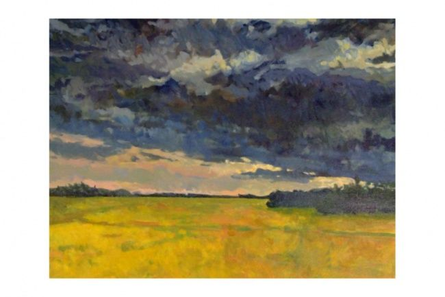"""Painting titled """"Canola Storm"""" by Mike Dendy, Original Art,"""