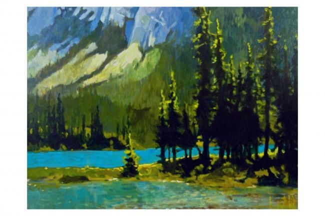 """Painting titled """"Spirit Island Isn't"""" by Mike Dendy, Original Art, Oil"""