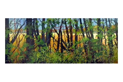 """Painting titled """"Riverlot 56 #3"""" by Mike Dendy, Original Art,"""