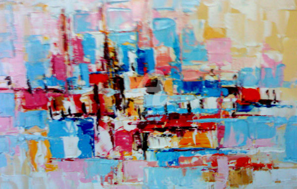 magnifissance.jpg - Painting,  40x60 cm ©2016 by MedBerkane -                                                        Abstract Art, Canvas, Abstract Art