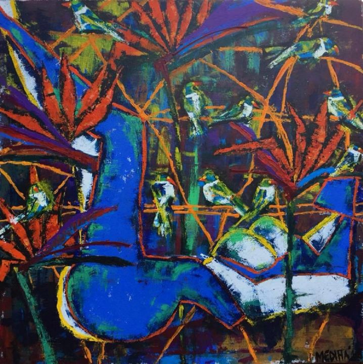 """Painting titled """"the-resting-place.j…"""" by Mediha Afsar, Original Art, Acrylic"""
