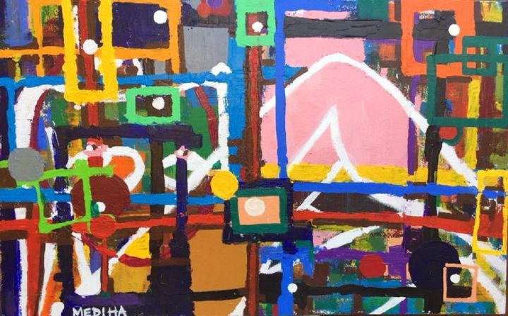 """Painting titled """"take-me-back-to-the…"""" by Mediha Afsar, Original Art, Acrylic"""