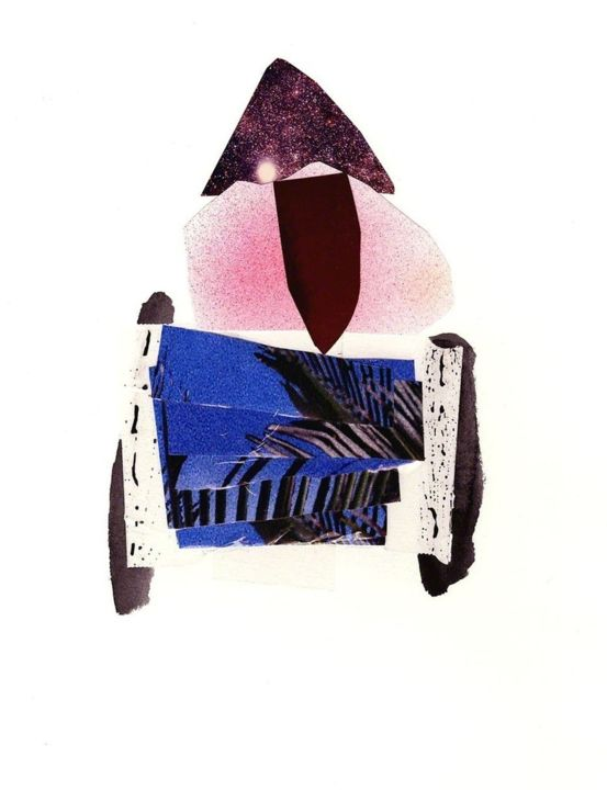 """Collages titled """"PYRAMID LEGS"""" by Megan Stroech, Original Art, Other"""