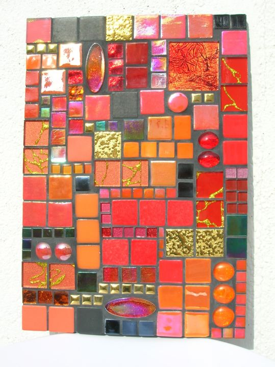 Tableau mosaique rouge - Artcraft,  11.8x8.3x0.8 in, ©2018 by Melandyne -