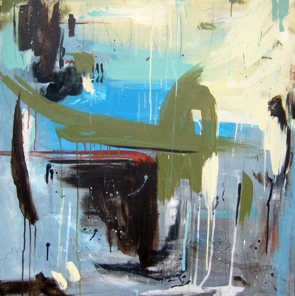 Asia - Painting,  36x36x1.5 in, ©2009 by Melissa Beaulieu -                                                                                                                                                                                                                                                                                                                                                              Abstract, abstract-570, Abstract Art, Mixed Media, Abstract, Abstraction, Contemporary Original Abstract Painting