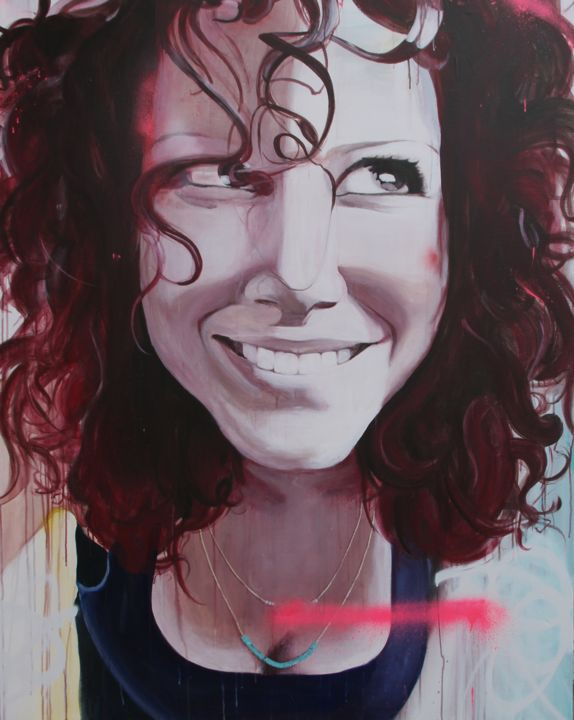 """Painting titled """"""""Age of the Selfie…"""" by Melissa Beaulieu, Original Art, Acrylic"""