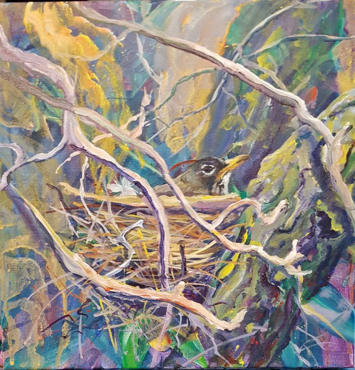 """Painting titled """"Robin's Redoubt"""" by Melissa Pierson, Original Art, Acrylic"""