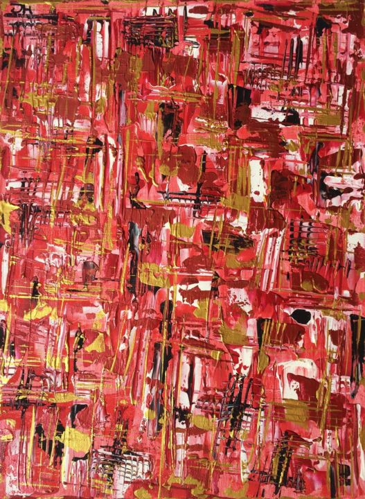 SwissAbstract - Painting,  19.7x15.8x0.6 in, ©2020 by Mc_art -                                                                                                                                                                                                                                                                                                                                                                                                                                                                                                                                                                                                                                                                                                                                                                                                                                                                                                                                                                                                                                                                                                                                                                                      Abstract, abstract-570, Abstract Art, Colors, World Culture, art abstrait, couleurs, rouge, or, swissart, swissartist, new, newandabstract, abstract, paintoncanevas, suisse, artiste, painters, swisspainters, carouge, swissexpo, culture, genève, geneva, tableau