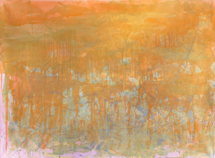 Orange day - Живописец,  49,2x66,9x1 in, ©2019 - Anatoliy Menkiv -                                                                                                                                                                                                                                                                                                                                                                                                                                                      Abstract, abstract-570, Абстрактное искусство, abstract, modern, contemporary, art, painting, oil