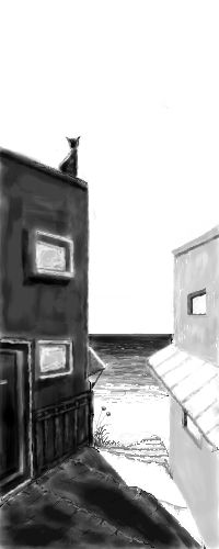 """Painting titled """"It is still waiting."""" by Mentalbeachcombers, Original Art,"""