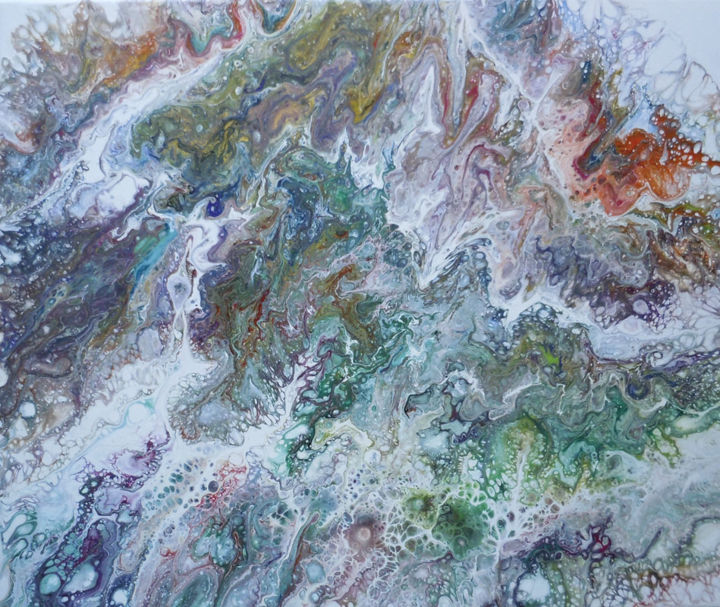 Painting, acrylic, abstract, artwork by Mercedes Lafuente
