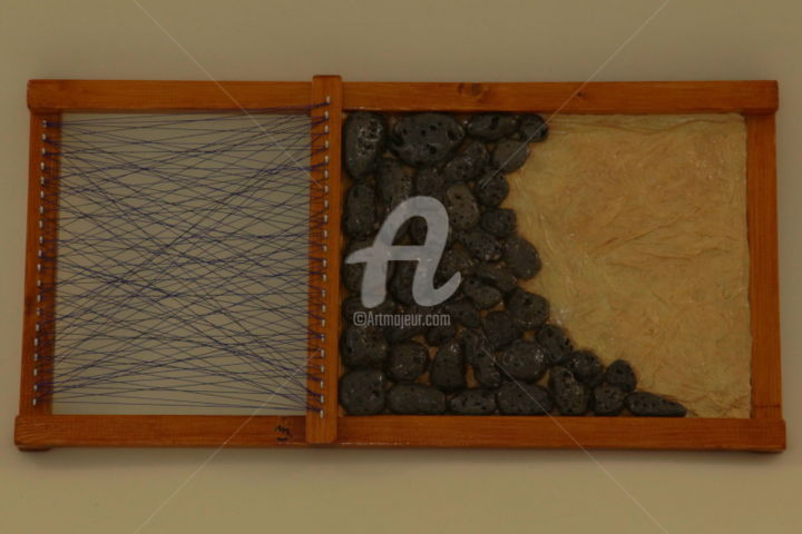 merjart058.jpg - Artcraft,  9.7x19.7 in, ©2015 by Merj Locatelli -                                                                                                                                                                                                                                                                                                                                                                                                          Abstract, abstract-570, Paper, Wood, Metal, Stone, Fabric, Abstract Art