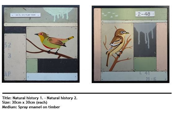 """Painting titled """"Natural History 1 &…"""" by Michael Mertyn, Original Art,"""
