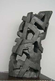 """""""Malinche"""" - Sculpture,  23.6x13.4x5.1 in, ©2003 by Manolo Messía -                                                              Abstract Art"""