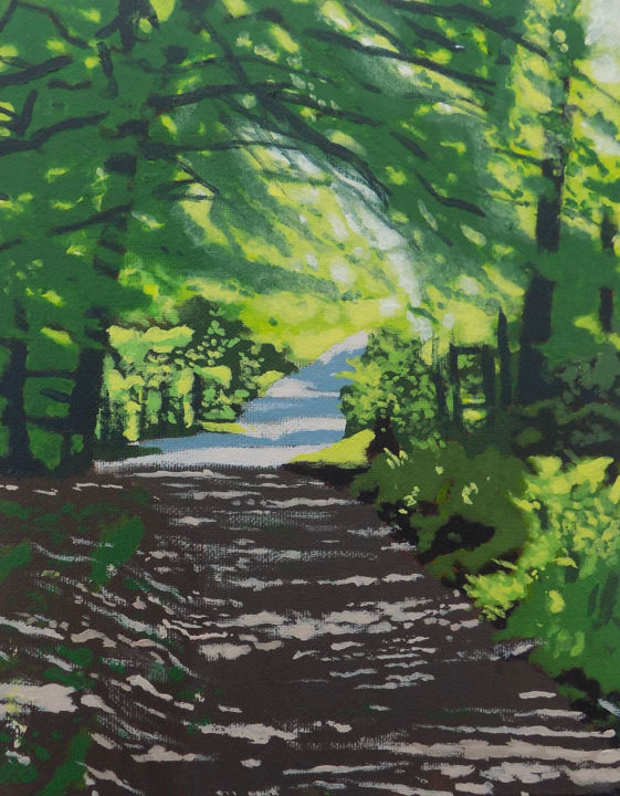 """Painting titled """"The Back Road Blair…"""" by Malc, Original Art, Acrylic"""
