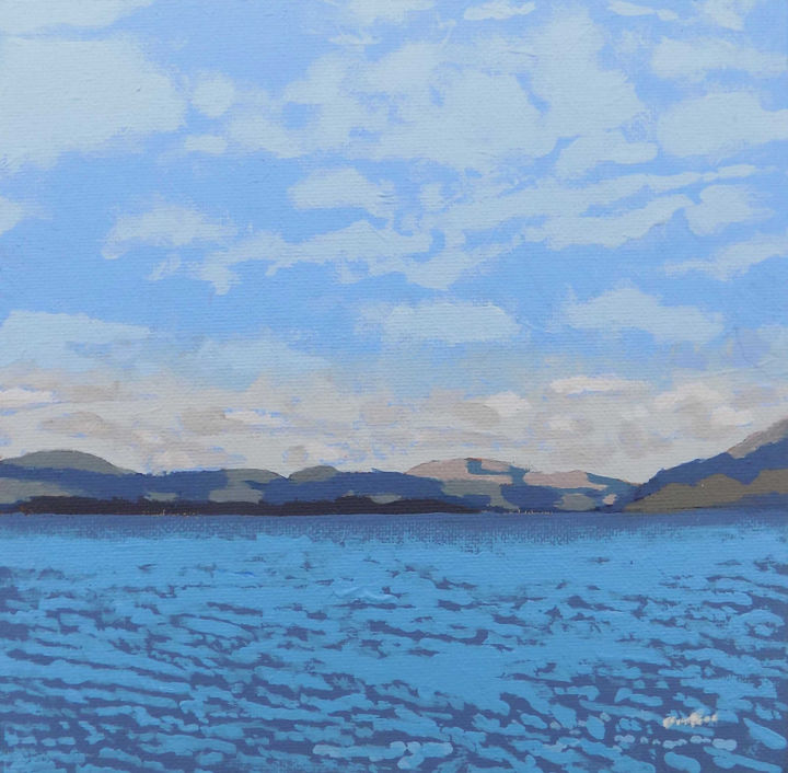 """Painting titled """"Loch Fyne from Otte…"""" by Malc, Original Art, Acrylic"""