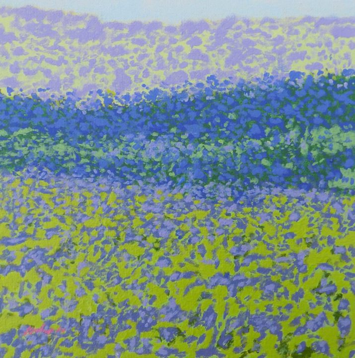 """Painting titled """"Bluebells"""" by Malc, Original Art, Acrylic"""