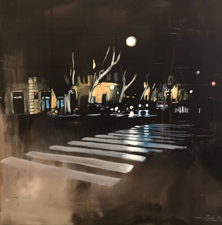 """Painting titled """"City Painting """"Via…"""" by Mette Holmberg, Original Art, Acrylic"""