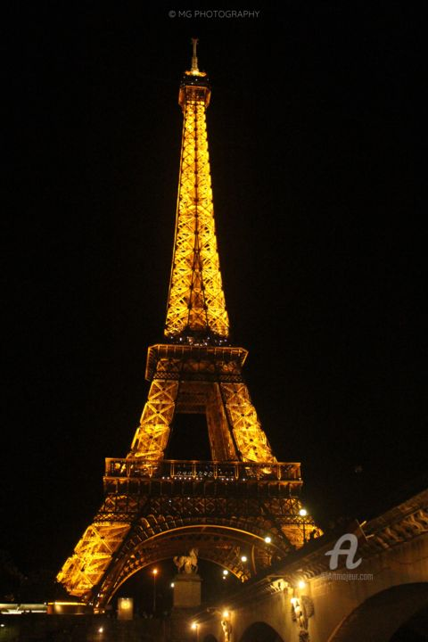 """Photography titled """"eiffel tower"""" by Mg Photography, Original Art, Digital Photography"""