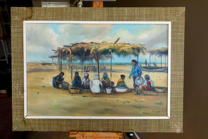 """Painting titled """"Untitled 2 - Mohame…"""" by Michael Rowe, Original Art, Oil Mounted on Stretcher frame"""