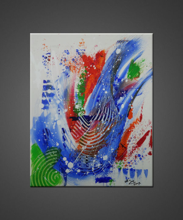 """Painting titled """"First.A"""" by Michael Seng, Original Art, Acrylic"""