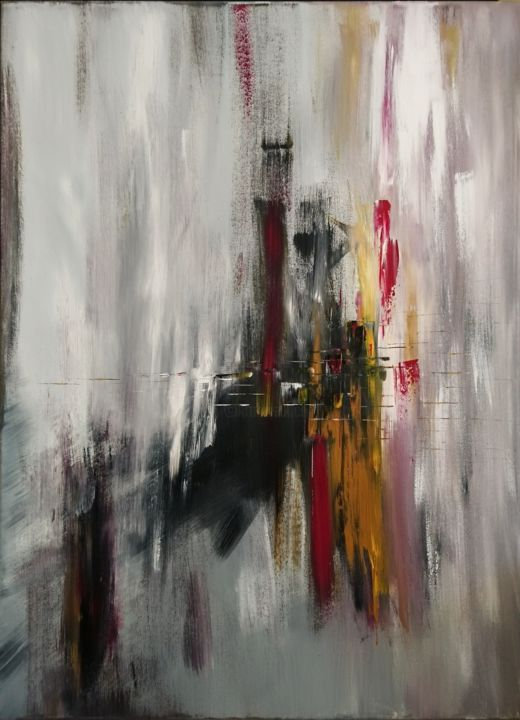 """Painting titled """"Ethereal City"""" by Michael Denart, Original Art, Acrylic Mounted on Stretcher frame"""