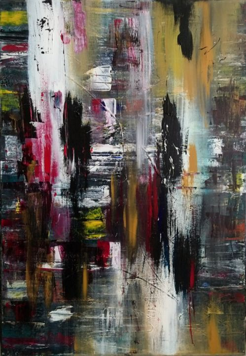 """Painting titled """"Chaos"""" by Michael Denart, Original Art, Acrylic Mounted on Stretcher frame"""