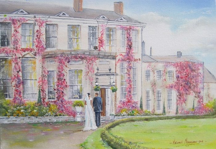"""Painting titled """"Wedding day  Castle…"""" by Michael Monaghan, Original Art, Oil"""