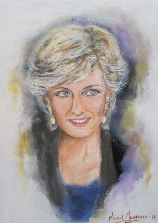 """Painting titled """"Princess Diana"""" by Michael Monaghan, Original Art, Oil"""
