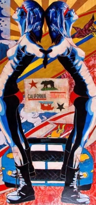 """Painting titled """"California Dreamin'"""" by Michael O'Briant, Original Art, Acrylic"""