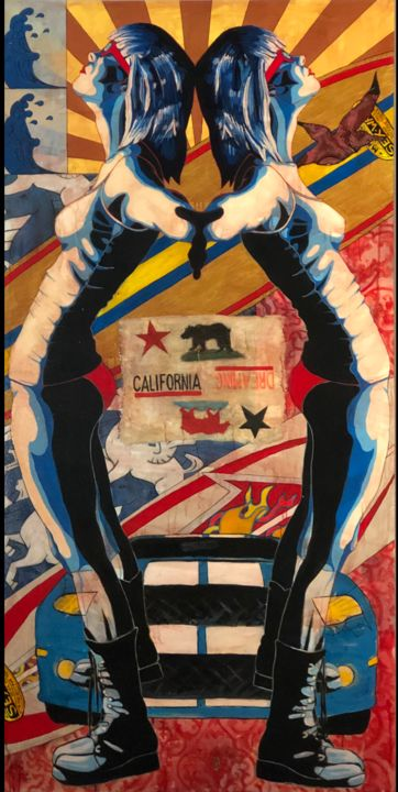 """Painting titled """"California Dreaming"""" by Michael O'Briant, Original Art, Acrylic Mounted on Stretcher frame"""