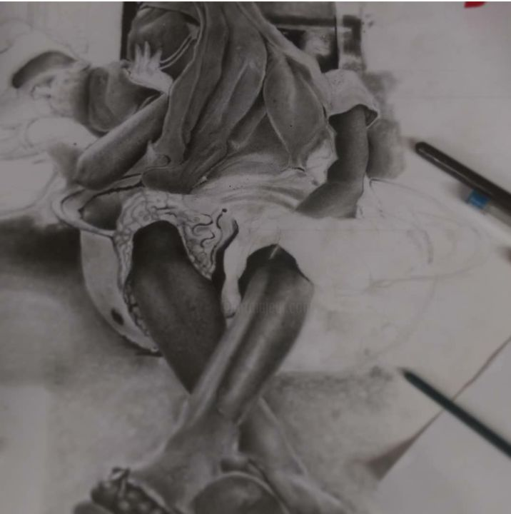 Painting, artwork by Michael Osei