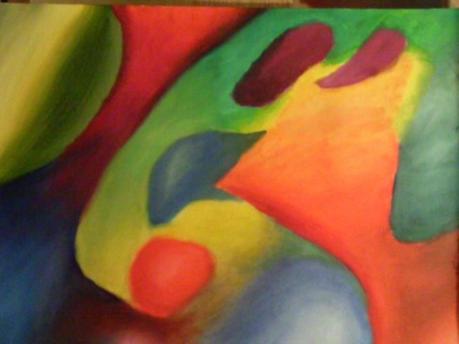 """Painting titled """"Experiment In Color…"""" by Michael Farmer, Original Art, Oil"""