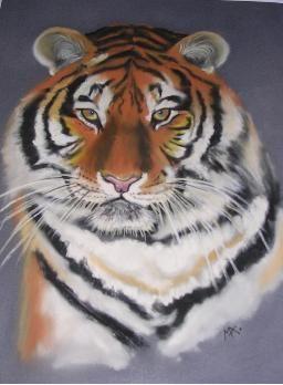 Tigre - Painting,  19.7x15.8 in, ©2006 by Michago -