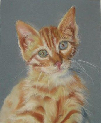 Chat roux - Painting, ©2009 by Michago -