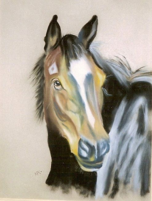 Cheval - Painting, ©2009 by Michago -