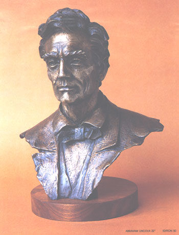 """Sculpture titled """"Lincoln"""" by Michail Constantine, Original Art, Casting"""