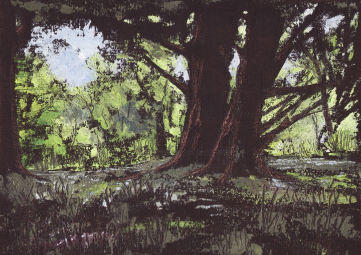 """Painting titled """"Forest Glade, Killa…"""" by Micheal O Muirthile, Original Art, Oil"""