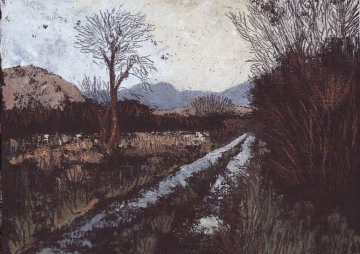 """Painting titled """"Bridia Valley I"""" by Micheal O Muirthile, Original Art, Oil"""